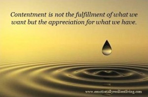 meaning of contentment